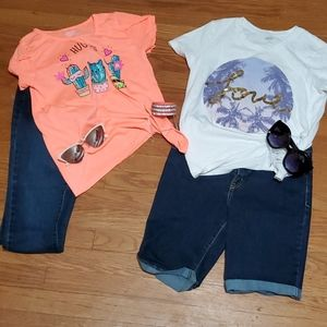 Girls Jeans & Shorts BUNDLE w/Ts. $16